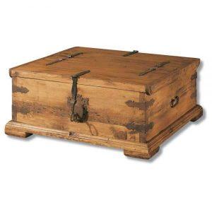 arcón baúl rústico de madera
