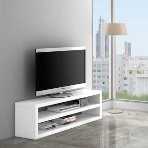 mesa tv ECO lacado blanco brillo sin trasera